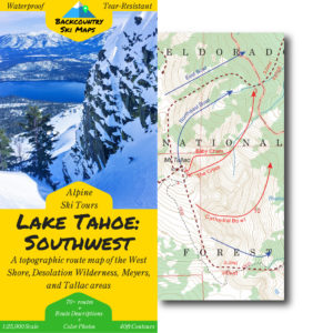backcountry skiing Tahoe southwest map