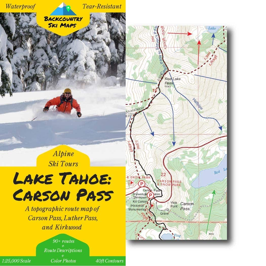 Carson Pass Backcountry Ski Map