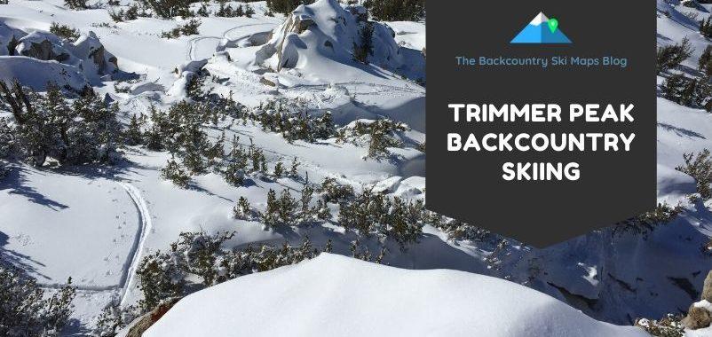 trimmer peak tahoe backcountry skiing